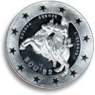 1992 German Ecu coin