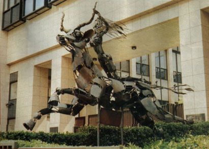 Sculpture outside the Council of Ministers Office in Brussels, Belgium